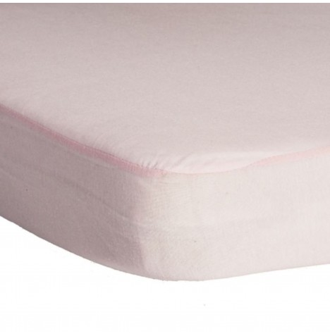Hippychick Childs Waterproof Cot Mattress Protector (Fitted Tencel Sheet) 120 x 60cm - Pale Pink