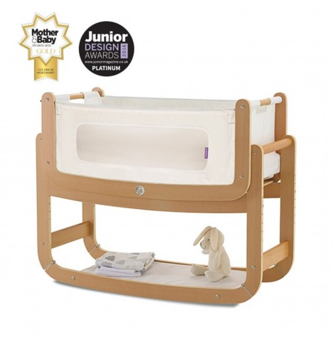 Snuz SnuzPod2 Bedside Crib 3 in 1 With Mattress - Natural