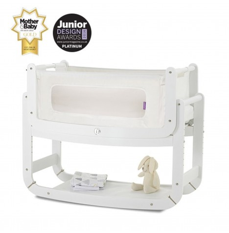 Snuz SnuzPod2 Bedside Crib 3 in 1 With Mattress - White
