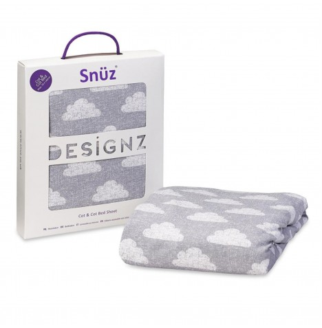 Snuz Cot / Cot Bed Fitted Sheet - Cloud Nine