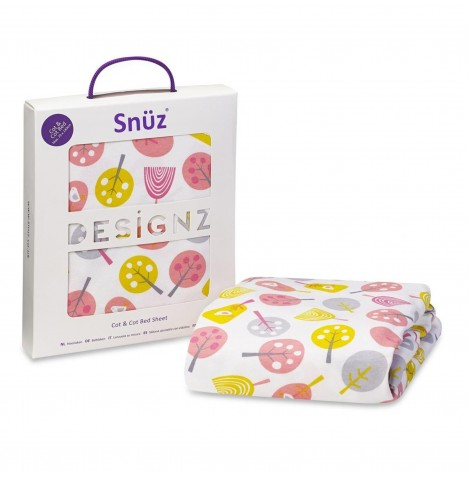 Snuz Cot / Cot Bed Fitted Sheet - Little Tweets