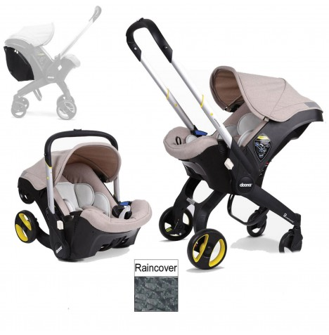 Doona Infant Car Seat / Stroller (Package 2) - Dune