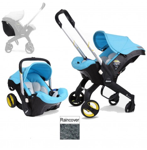 Doona Infant Car Seat / Stroller (Package 2) - Sky