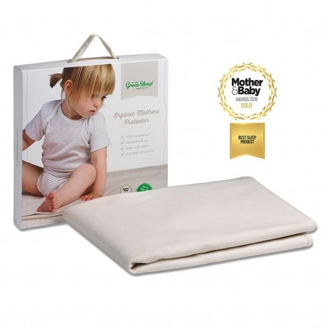 The Little Green Sheep Organic Cot Bed Mattress Protector - 70 x 140cm