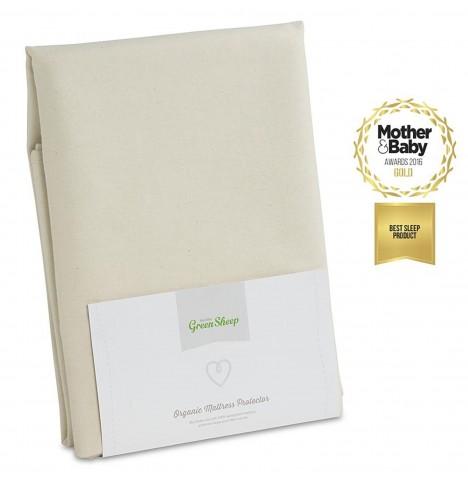 The Little Green Sheep Organic Single Bed Mattress Protector - 90 x 190cm