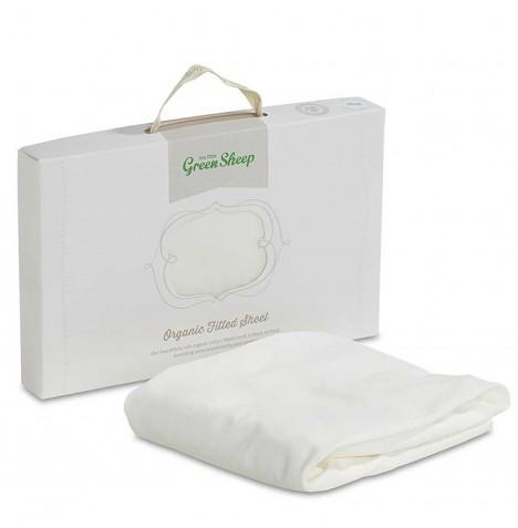 The Little Green Sheep Organic Jersey Fitted Sheet To Fit Stokke Mini Crib - White