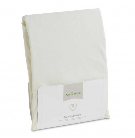 The Little Green Sheep Organic Single Bed Jersey Fitted Sheet - White