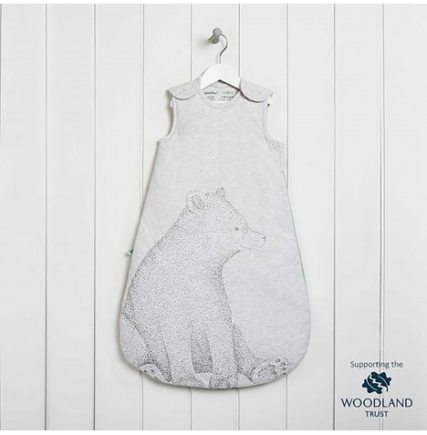 The Little Green Sheep Wild Cotton Organic Sleeping Bag - Bear