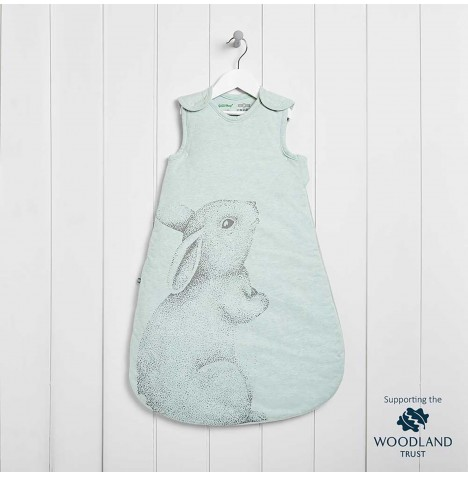 The Little Green Sheep Wild Cotton Organic Sleeping Bag - Rabbit