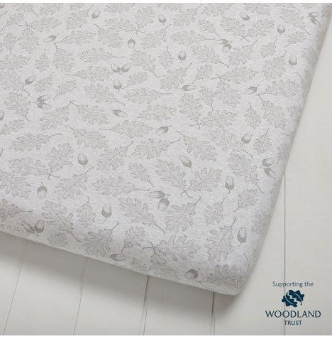 The Little Green Sheep Wild Cotton Organic Cot / Cot Bed Fitted Sheet - Leaf