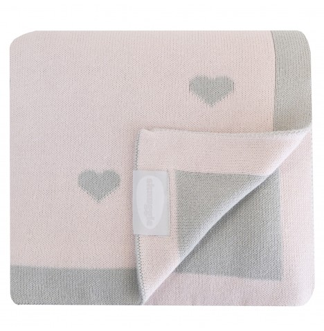 Shnuggle Luxury Knitted Blanket - Heart Pink