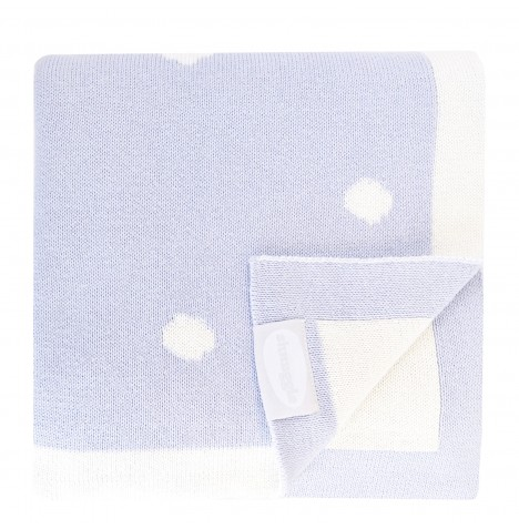 Shnuggle Luxury Knitted Blanket - Cloud Blue