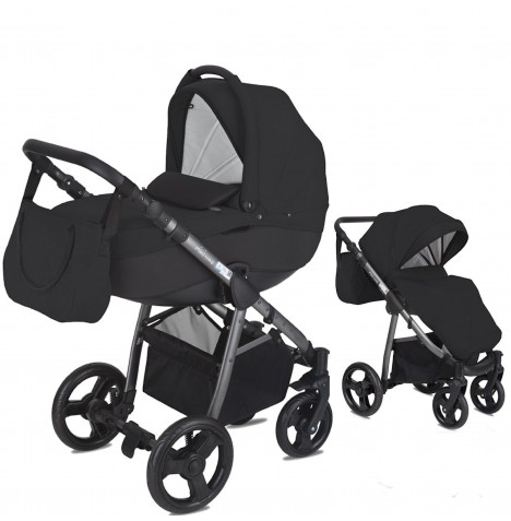 Mini Uno Stride 3 In 1 Pram / Pushchair - Black