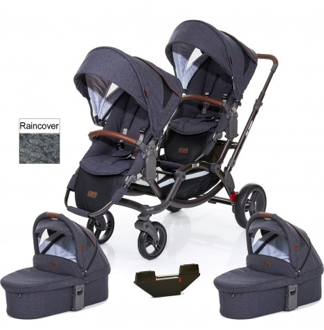 ABC Design Zoom Tandem Pushchair (With 2 x Carrycot) - Street