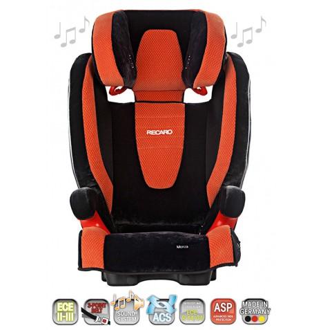 new recaro orange microfibre monza childs high back booster car seat ebay. Black Bedroom Furniture Sets. Home Design Ideas