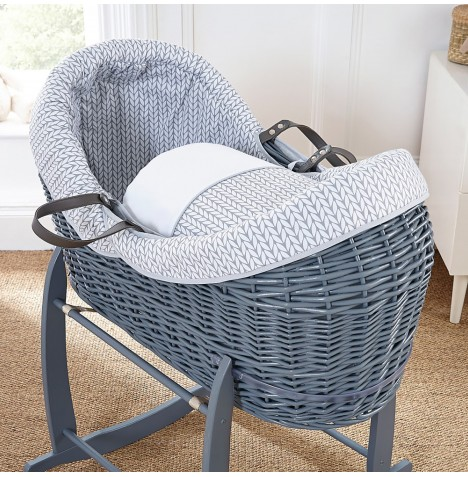 4baby Grey Wicker Crossover Noah Pod - Seedling Grey