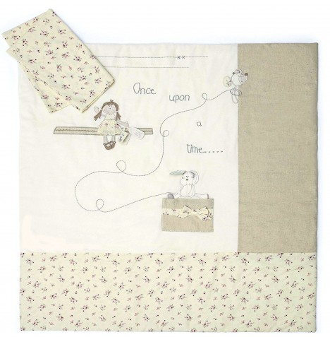 Mamas & Papas Once Upon A Time Cot / Cot Bed / Toddler Bed Quilt & Pillowcase Set (Girls)