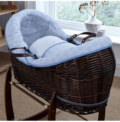 4baby Dark Wicker Crossover Noah Pod - Powder Pop Blue