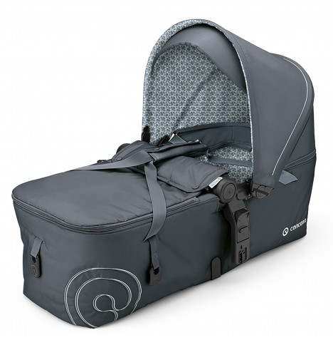 Concord Scout Folding Carrycot - Steel Grey