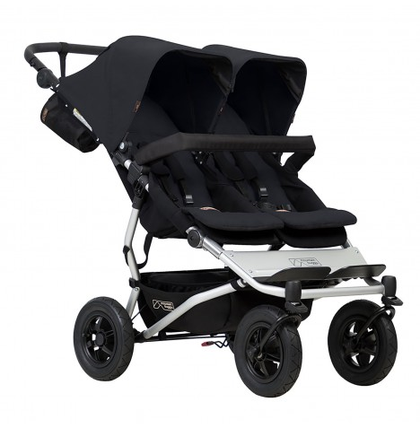 Mountain Buggy Duet V3 Twin Pushchair - Black