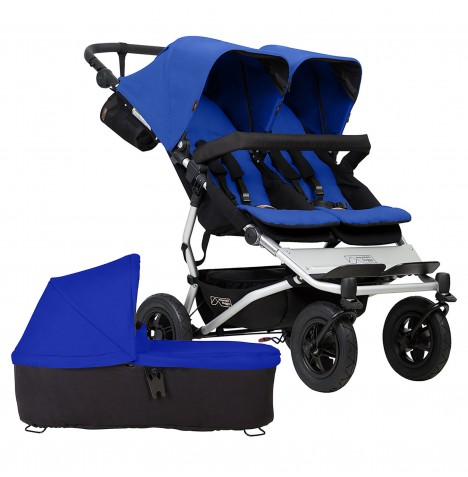 Mountain Buggy Duet V3 Twin Pushchair & Carrycot - Marine
