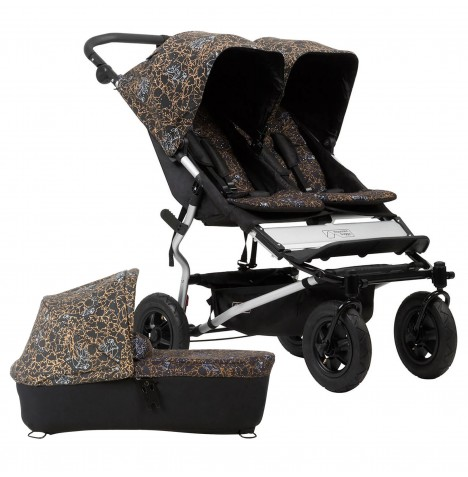 Mountain Buggy Duet V3 Twin Pushchair & Carrycot - Rooster