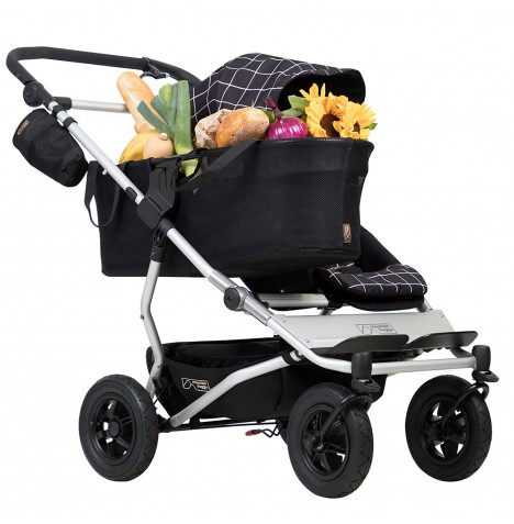 Mountain Buggy Duet V3 Single Pushchair - Grid
