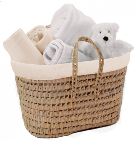Clair De Lune My Toys Polly Nursery Basket - Cream