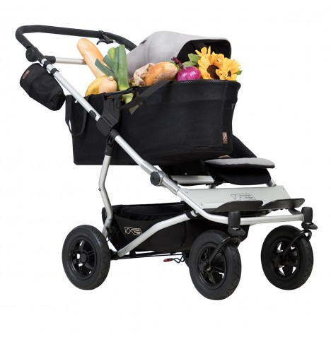 Mountain Buggy Duet V3 Single Pushchair - Silver