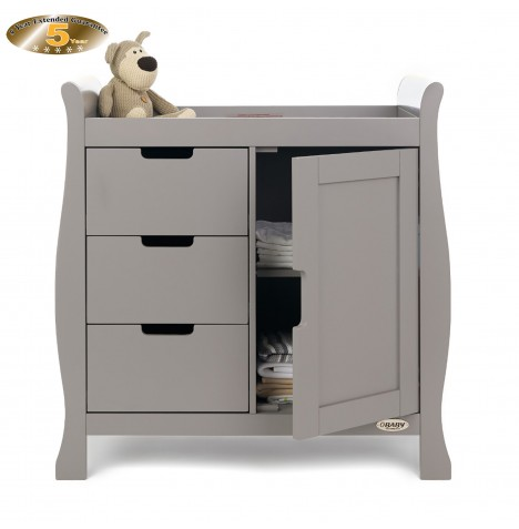 Obaby Closed Stamford Changing Unit - Taupe Grey