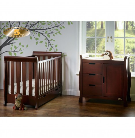 Obaby Stamford Mini 2 Piece Room Set - Walnut