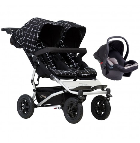 Mountain Buggy Duet V3 Travel System - Grid