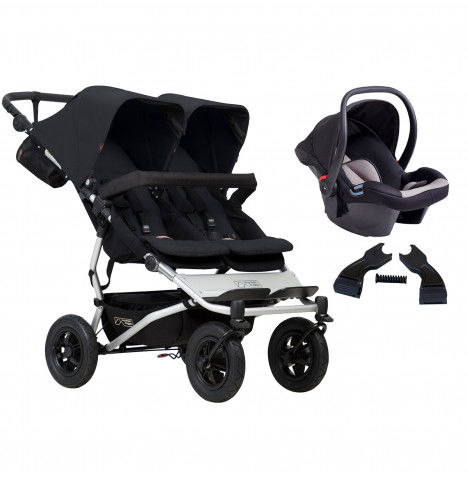 Mountain Buggy Duet V3 Travel System - Black
