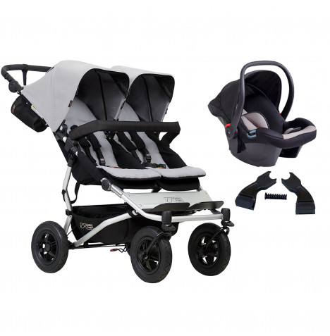 Mountain Buggy Duet V3 Travel System - Silver