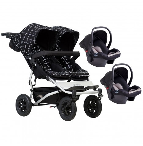 Mountain Buggy Duet V3 Double Travel System - Grid