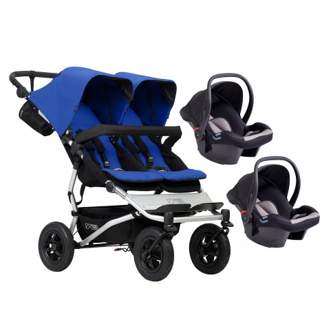 Mountain Buggy Duet V3 Double Travel System - Marine
