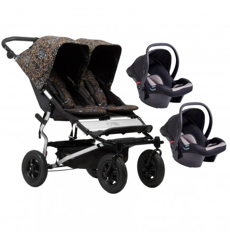 Mountain Buggy Duet V3 Double Travel System - Rooster