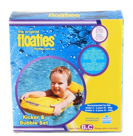 The Original Floaties Kicker And Bubble Set