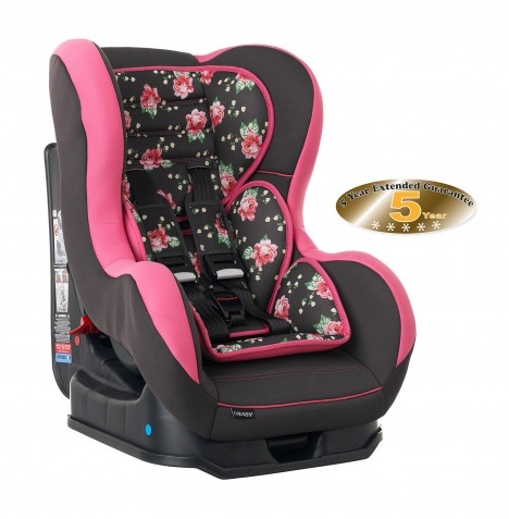 Obaby Group 0/1 Combination Car Seat - Grey Rose