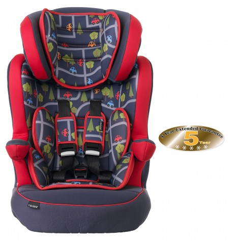 Obaby Group 123 High Back Booster Car Seat - Toy Traffic