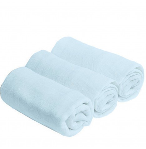 Bee Bo Cotton Muslin Squares (3 Pack) - Blue
