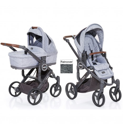 ABC Design Mamba Plus Pushchair & Carrycot - Graphite Grey