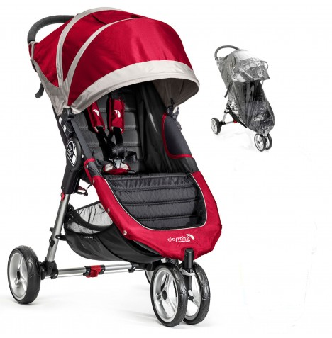 New Baby Jogger City Mini Single Stroller - Crimson