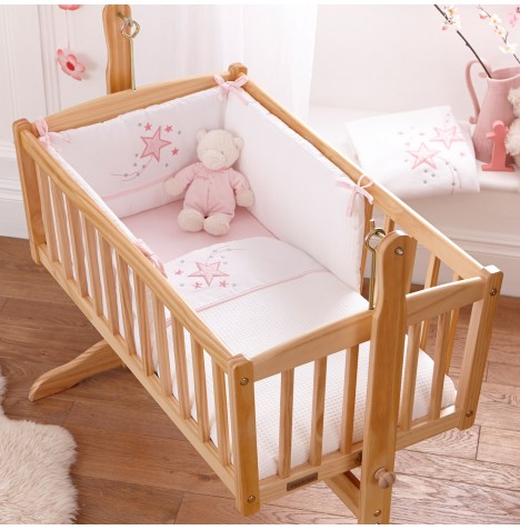 4baby Crib Quilt & Bumper Set - Twinkle Pink