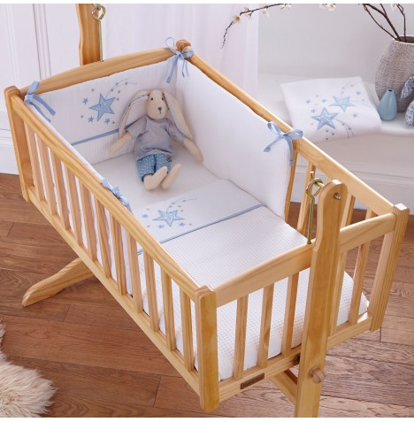 4baby Crib Quilt & Bumper Set - Twinkle Blue