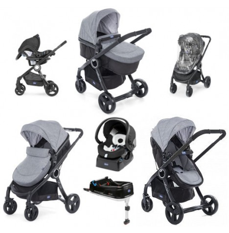 Chicco Show Offer - Urban Plus Travel System and IsoFix Base Bundle 6 - Legend