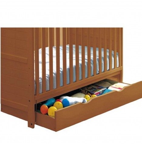 Saplings Large Under Bed Rollaway Drawer - Country Pine
