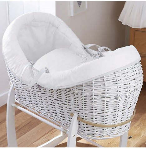 4baby White Wicker Crossover Noah Pod - Shooting Star White