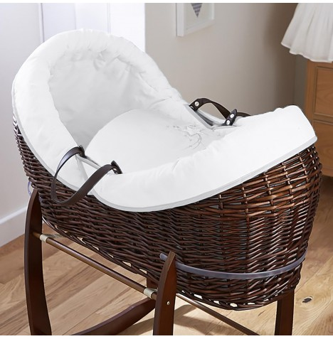 4baby Dark Wicker Crossover Noah Pod - Shooting Star White