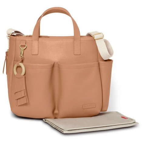 Skip Hop Greenwich Simply Chic Tote Changing Bag - Caramel